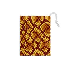Snake Skin Pattern Vector Drawstring Pouches (small)