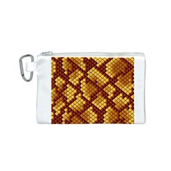 Snake Skin Pattern Vector Canvas Cosmetic Bag (s)