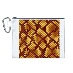 Snake Skin Pattern Vector Canvas Cosmetic Bag (l)