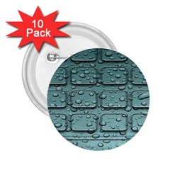 Water Drop 2.25  Buttons (10 pack)