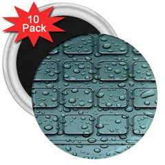 Water Drop 3  Magnets (10 Pack)