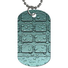 Water Drop Dog Tag (one Side)