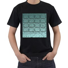 Water Drop Men s T Shirt (black) (two Sided)