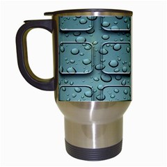 Water Drop Travel Mugs (white)