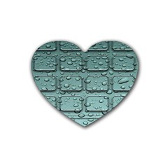 Water Drop Rubber Coaster (heart)