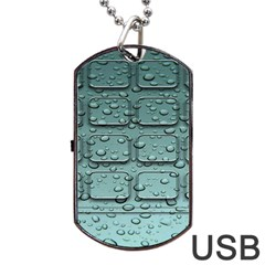 Water Drop Dog Tag Usb Flash (two Sides)