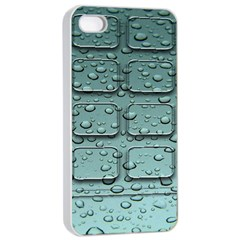 Water Drop Apple iPhone 4/4s Seamless Case (White)