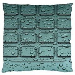 Water Drop Large Cushion Case (one Side)