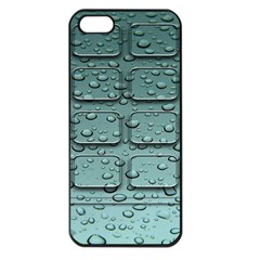 Water Drop Apple iPhone 5 Seamless Case (Black)