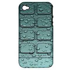 Water Drop Apple iPhone 4/4S Hardshell Case (PC+Silicone)