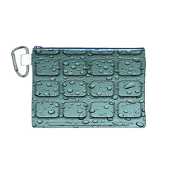 Water Drop Canvas Cosmetic Bag (m)