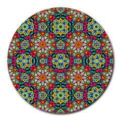 Jewel Tiles Kaleidoscope Round Mousepads