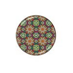 Jewel Tiles Kaleidoscope Hat Clip Ball Marker (4 pack) Front