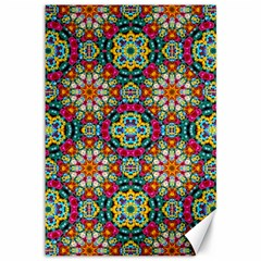 Jewel Tiles Kaleidoscope Canvas 12  x 18