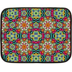 Jewel Tiles Kaleidoscope Double Sided Fleece Blanket (mini)