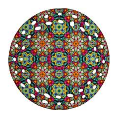 Jewel Tiles Kaleidoscope Ornament (Round Filigree)