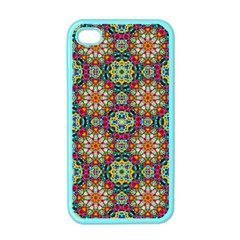 Jewel Tiles Kaleidoscope Apple iPhone 4 Case (Color)