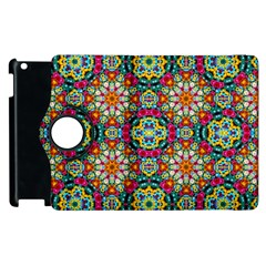Jewel Tiles Kaleidoscope Apple iPad 3/4 Flip 360 Case