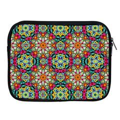 Jewel Tiles Kaleidoscope Apple iPad 2/3/4 Zipper Cases