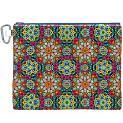 Jewel Tiles Kaleidoscope Canvas Cosmetic Bag (XXXL)