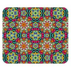 Jewel Tiles Kaleidoscope Double Sided Flano Blanket (Small)