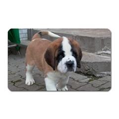 St Bernard Pup Magnet (Rectangular)