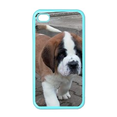 St Bernard Pup Apple iPhone 4 Case (Color)
