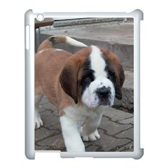 St Bernard Pup Apple iPad 3/4 Case (White)
