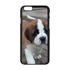 St Bernard Pup Apple iPhone 6/6S Black Enamel Case