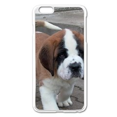 St Bernard Pup Apple iPhone 6 Plus/6S Plus Enamel White Case
