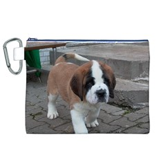 St Bernard Pup Canvas Cosmetic Bag (XL)