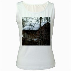 Abondoned House Women s White Tank Top