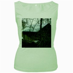 Abondoned House Women s Green Tank Top