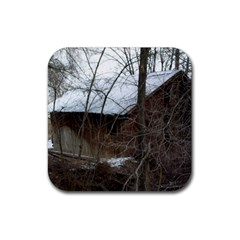 Abondoned House Rubber Coaster (Square)