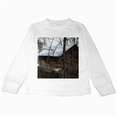 Abondoned House Kids Long Sleeve T-Shirts