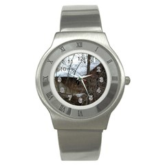 Abondoned House Stainless Steel Watch