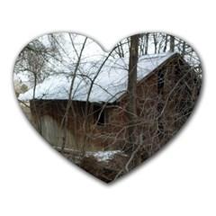 Abondoned House Heart Mousepads