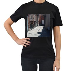 Alley Women s T-Shirt (Black) (Two Sided)