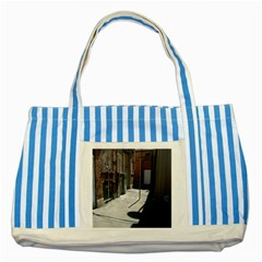Alley Striped Blue Tote Bag