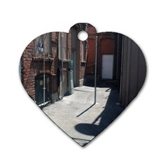 Alley Dog Tag Heart (One Side)