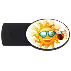 Cartoon Sun USB Flash Drive Oval (2 GB)
