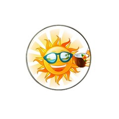 Cartoon Sun Hat Clip Ball Marker (10 pack)