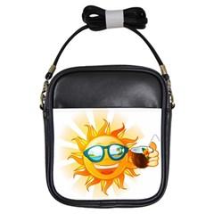 Cartoon Sun Girls Sling Bags