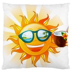 Cartoon Sun Large Cushion Case (One Side)