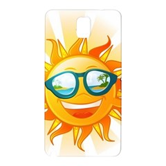 Cartoon Sun Samsung Galaxy Note 3 N9005 Hardshell Back Case