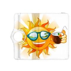 Cartoon Sun Kindle Fire HDX 8.9  Flip 360 Case