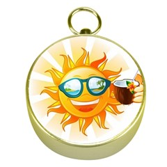 Cartoon Sun Gold Compasses