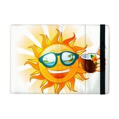 Cartoon Sun iPad Mini 2 Flip Cases