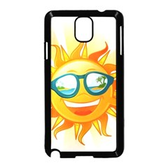 Cartoon Sun Samsung Galaxy Note 3 Neo Hardshell Case (Black)