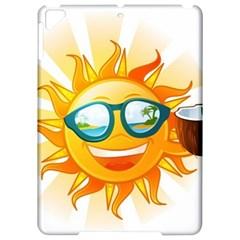 Cartoon Sun Apple Ipad Pro 9 7   Hardshell Case